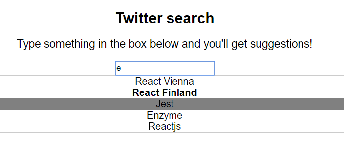 Final search box